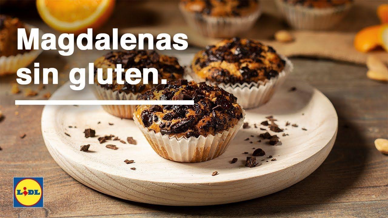 Receta De Magdalenas Sin Gluten Desde 0 70 Por Ración Magdalenas Sin Gluten Magdalenas Recetas De Magdalenas