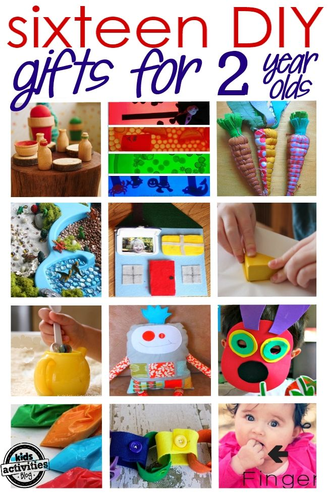 16 {ADORABLE} HOMEMADE GIFTS FOR A 2 YEAR OLD | 1 year activities ...