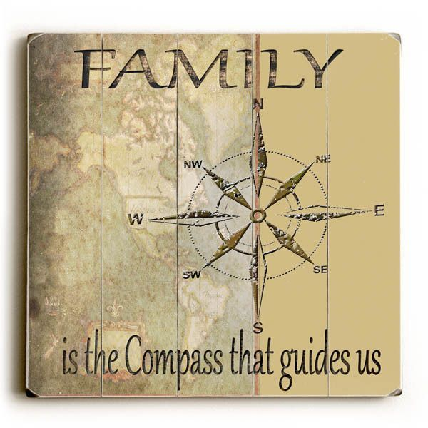 Family Is The Compass That Guides Us by Artist Karen Williams Wood ...