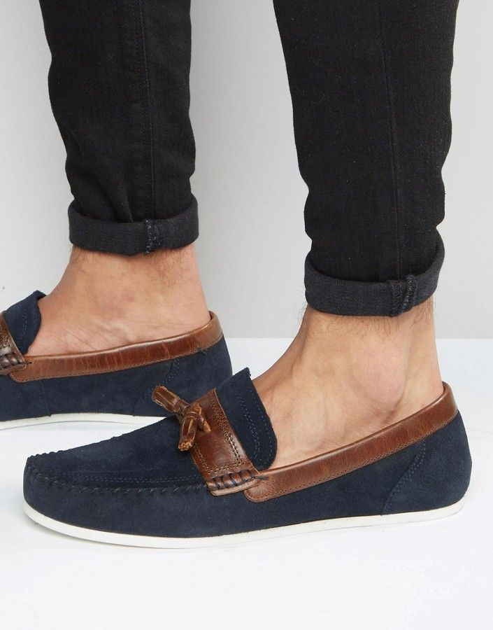 Asos - Red Tape Loafers In Navy Suede