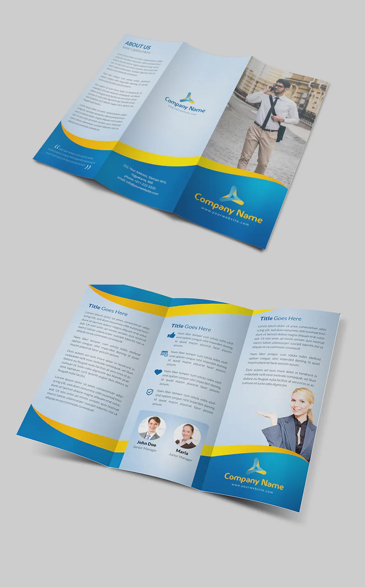 Elegant Trifold Brochure by fathurfateh on Brochure
