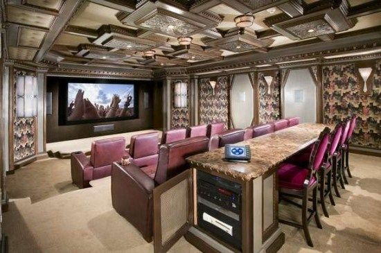 Formal Seating Style At Classic Home Theater Idea Family Room