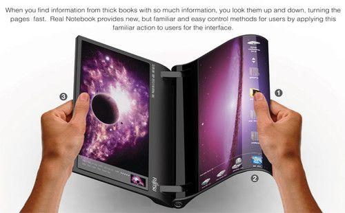 Real Notebook Le Laptop Du Futur Est Souple High Tech