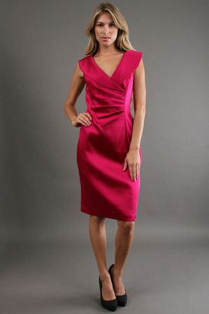 The Shawl Collar in Fuschia by Kay Unger New York at CoutureCandy.com