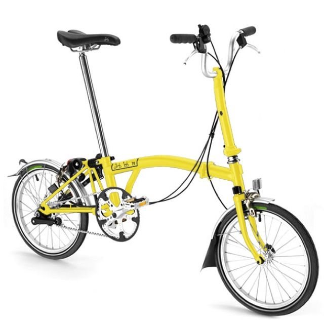 Brompton M6r Yellow Brompton Bicycle Yellow