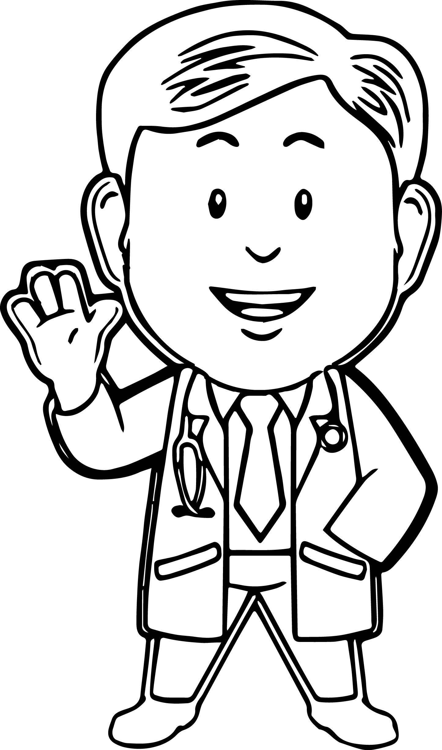 Nice Doctor Coloring Pages