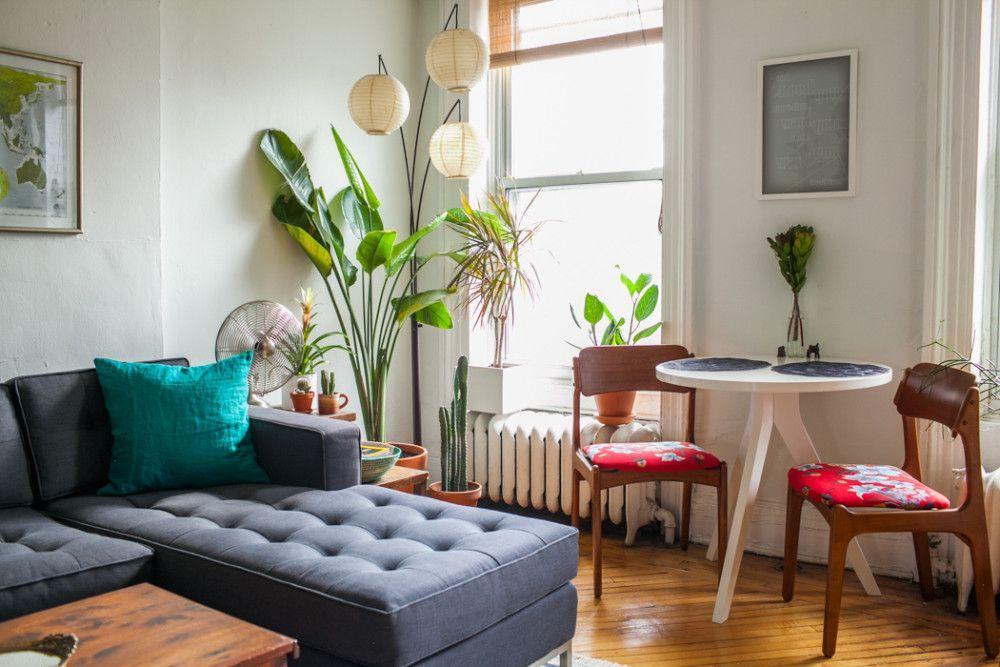 Departamento de 2 ambientes y medio en estilo vintage for Decoracion living departamento 2 ambientes