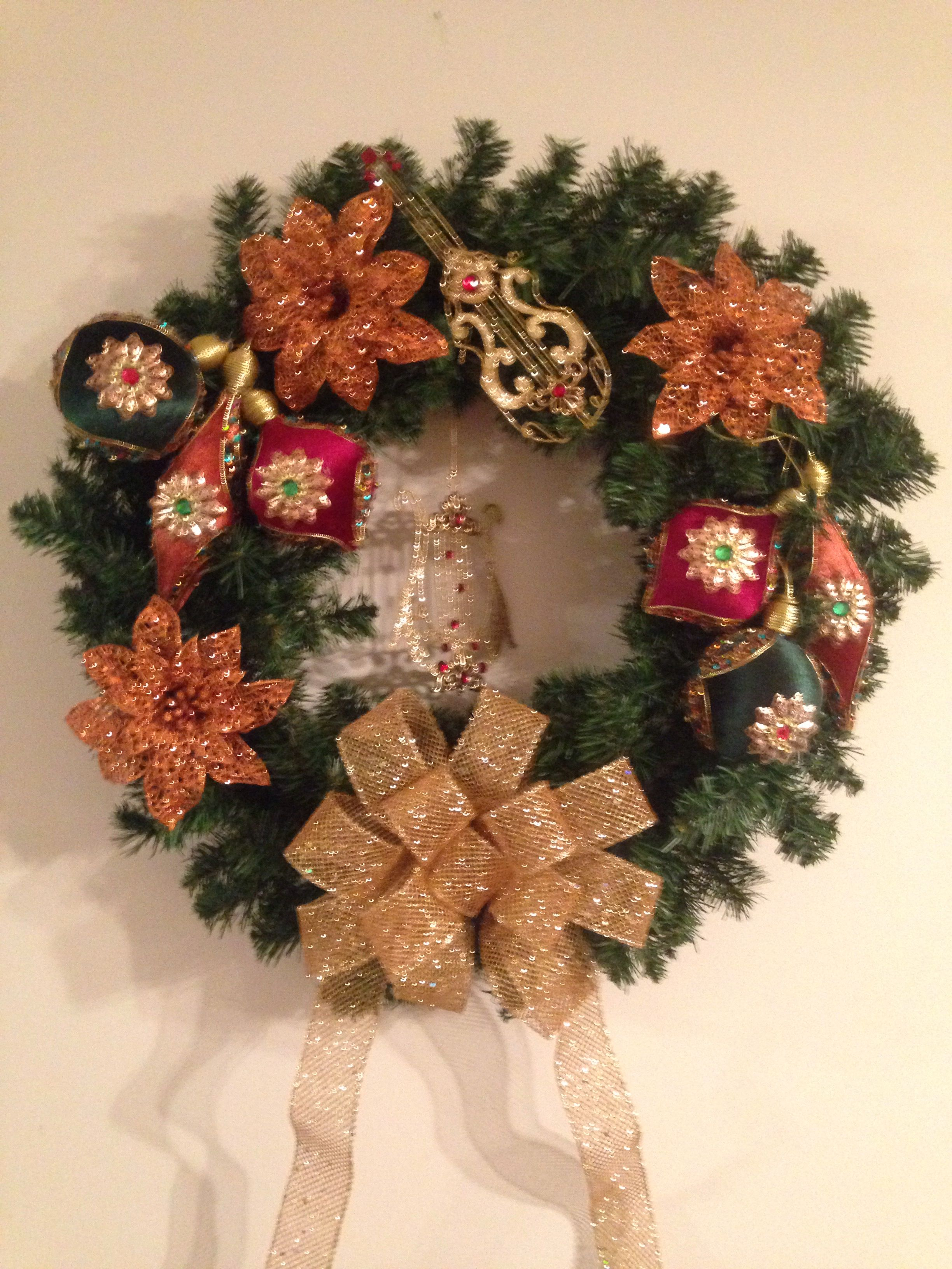A Baroque Christmas Wreath! My own creation   Christmas Decorations ...