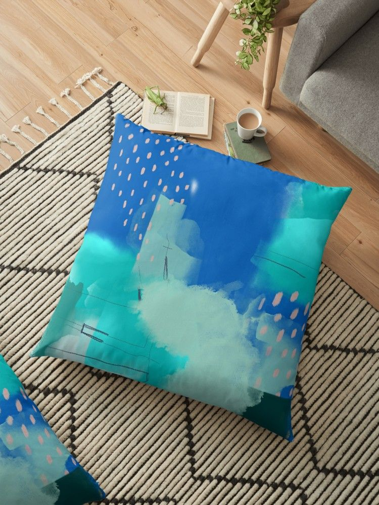 Scandi Abstract Floor Pillow By Urbanepiphany Floor Pillows Throw Cushions Pillows