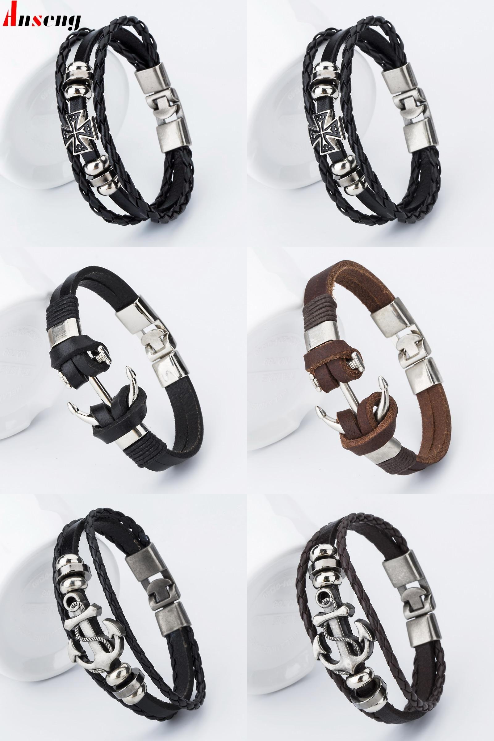 Visit to buy anseng brand fashion hook male charm bracelets trendy