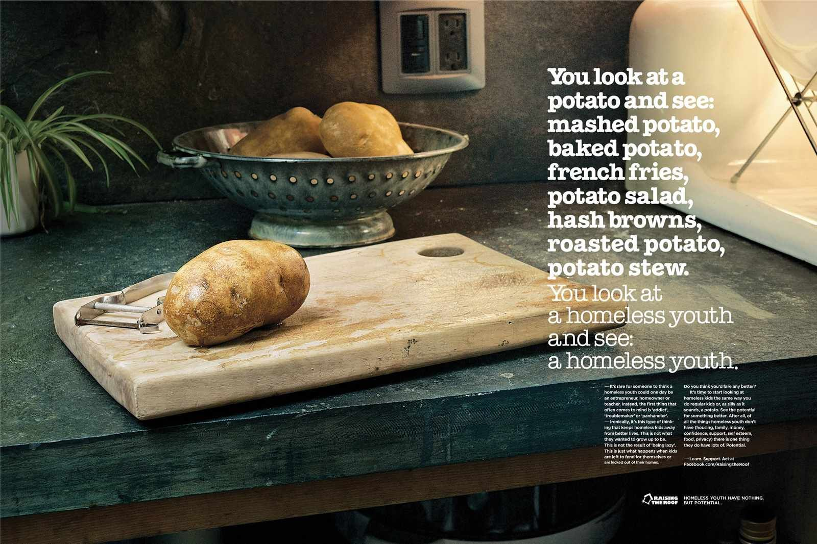 Raising The Roof Potato Ads Of The World Potatoes Stewed Potatoes Food Promotion