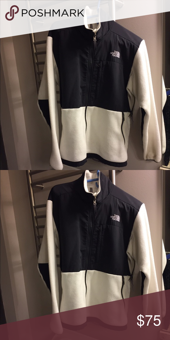 North Face Denali fleece jacket White fleece with black color block North  Face Jackets   Coats 9a4d44099