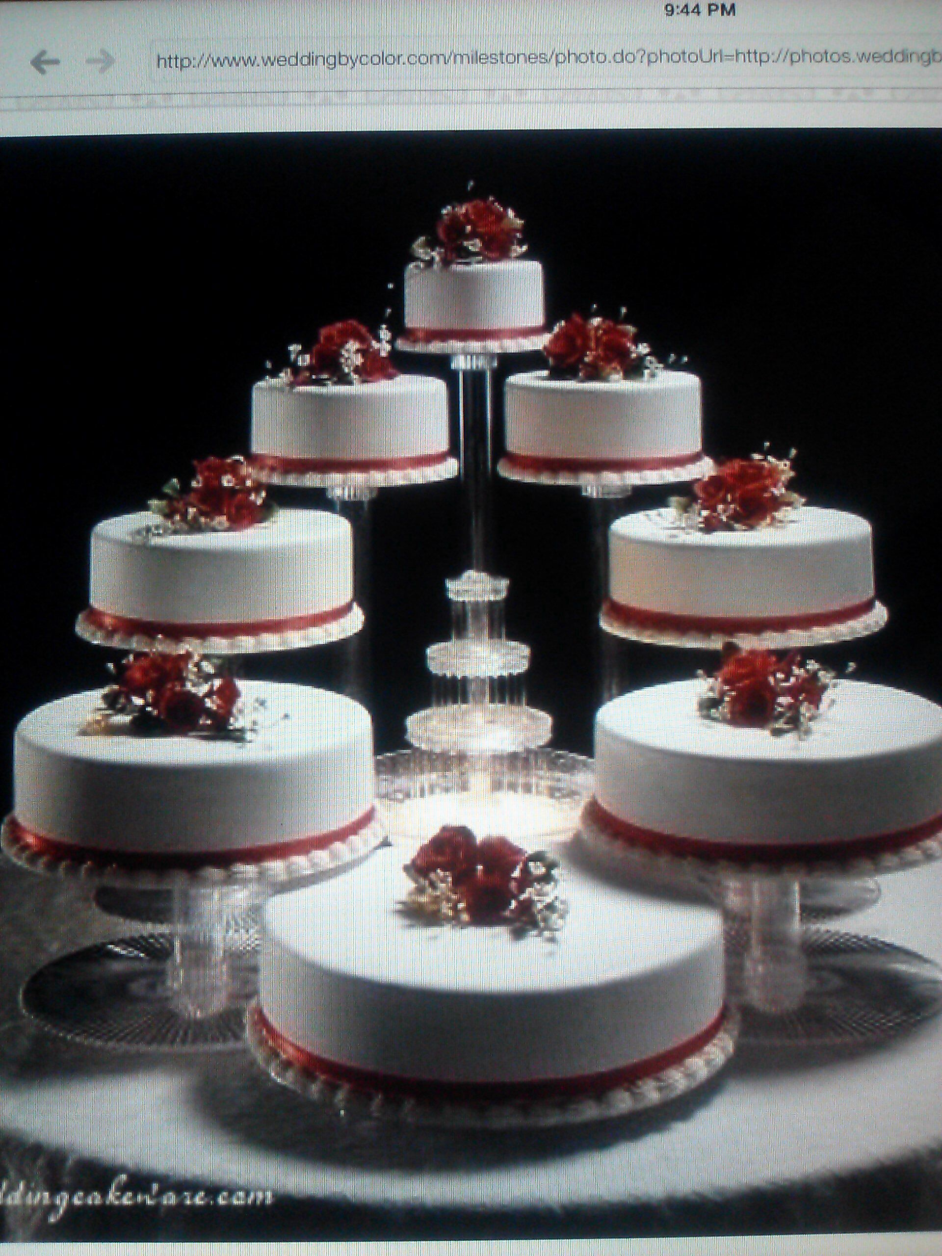 Tier Cascading Wedding Cake Stand Stands Set 4