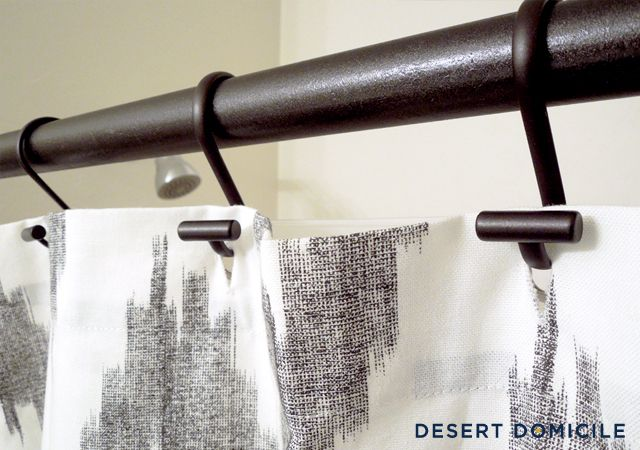 diy shower industrial shower curtain rods