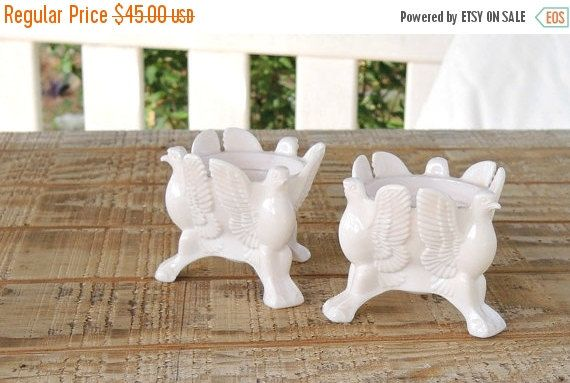 On Sale Pair of Jeanette Pink Milk Glass Holders, Taper Candles, Mid Century Milkglass, Cottage Style, Wedding, Beach Cottage Style