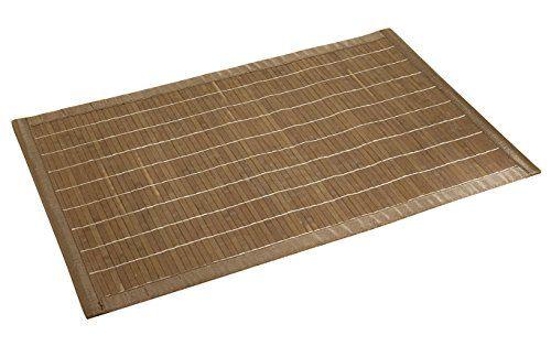 WENKO 17995100 Badematte Bamboo - Unterseite rutschhemmend, Bambus - teppich für küche