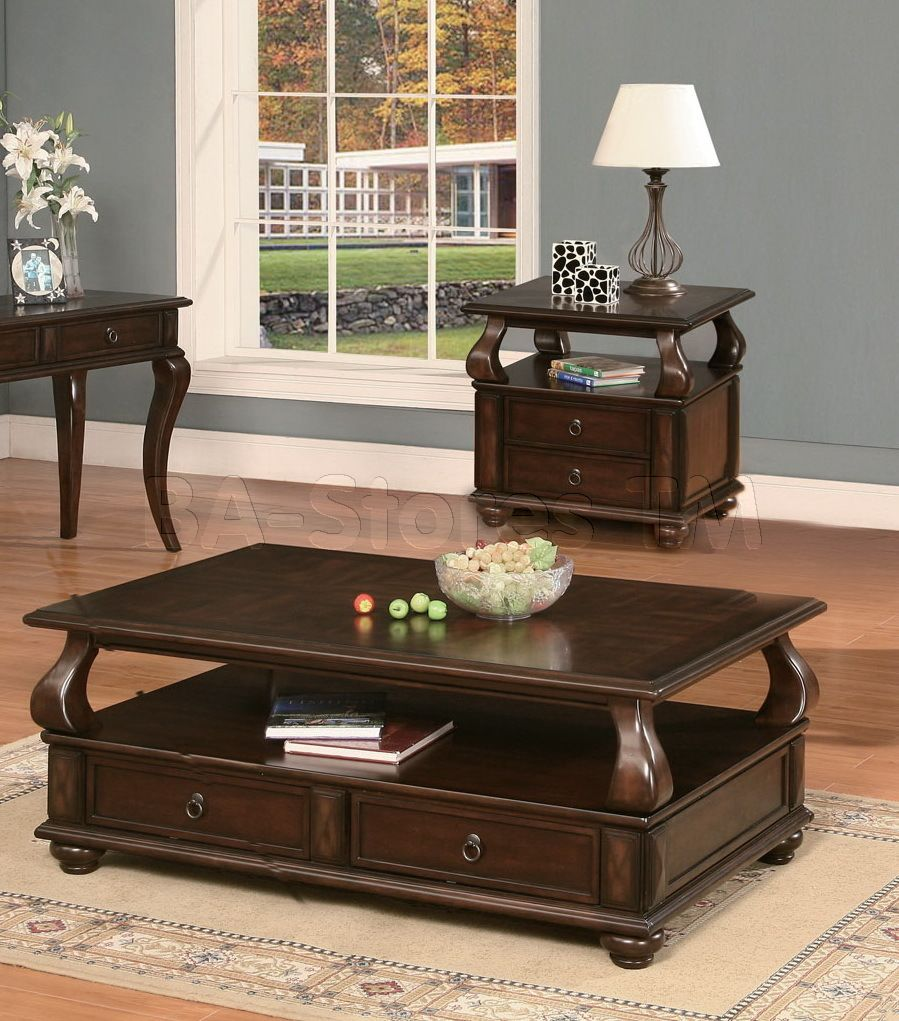 Amado Espresso 3 PC Occasional Table Set (Coffee Table and