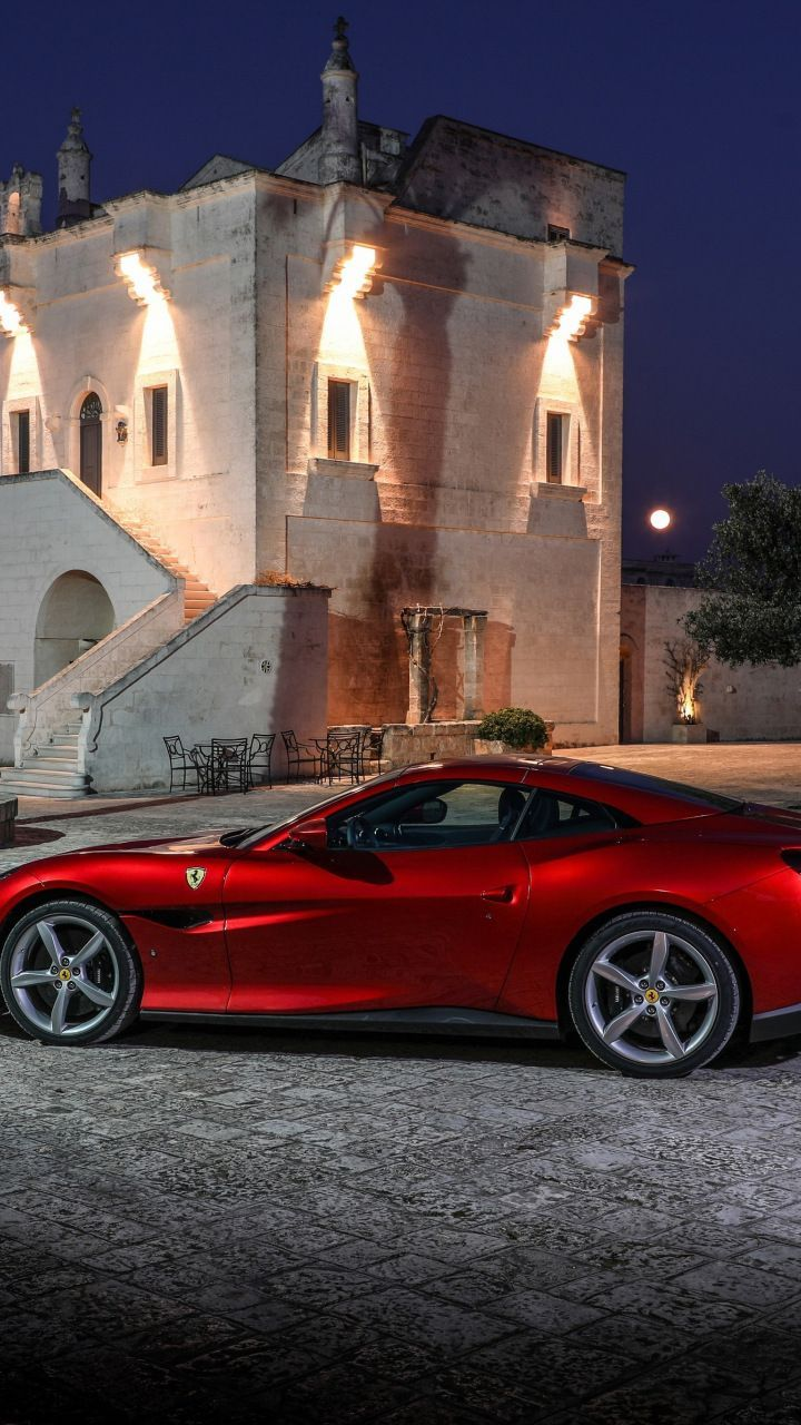excellent wallpaper 2018 red car Ferrari Portofino 7201280 wallpaper