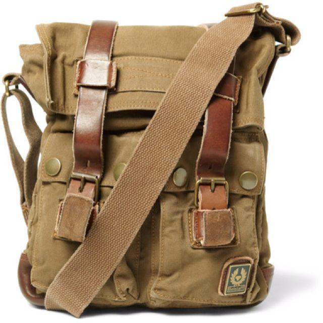 recognized brands store the sale of shoes Belstaff - leather and canvas messenger bag | Modern Dandy ...