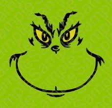 Image result for printable grinch face template | Grinch ...