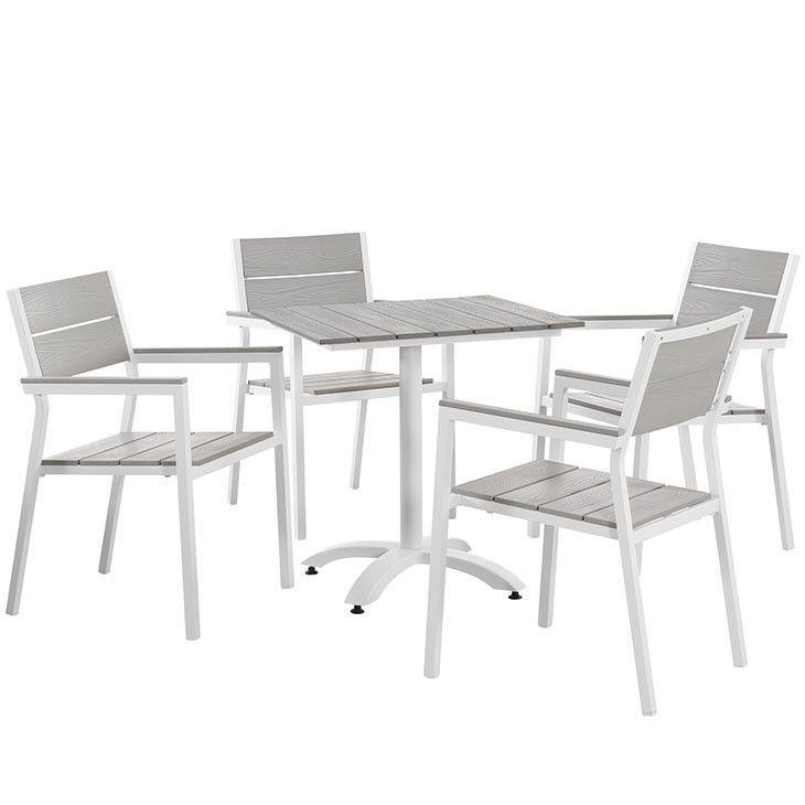 Modway Furniture Modern Maine 5 Piece Outdoor Patio Dining Set