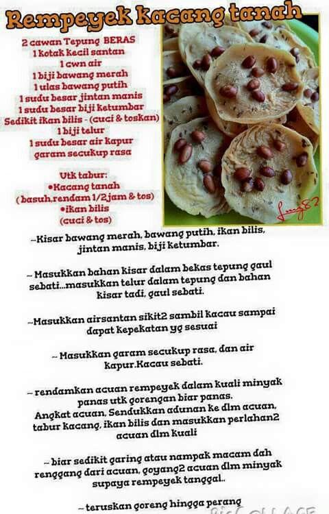 Rempeyek kacang tanah   Food, Recipes, Snacks