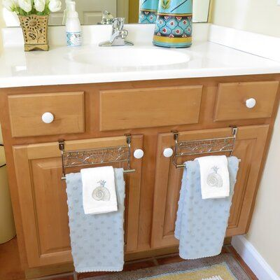 Evelots Evelots Over Cabinet Towel Bar Holders 9 Stainless Steel