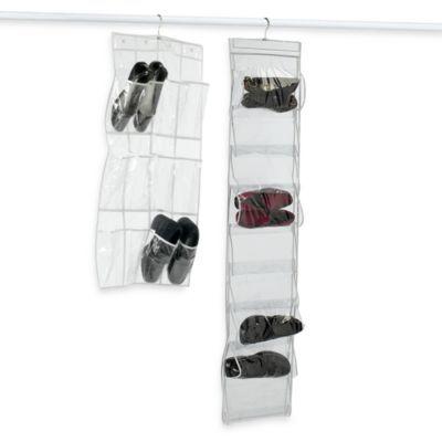 Crystal Clear Vinyl Shoe Storage Bedbathandbeyond Com Shoe Storage Hanging Shoe Storage Vinyl Shoe