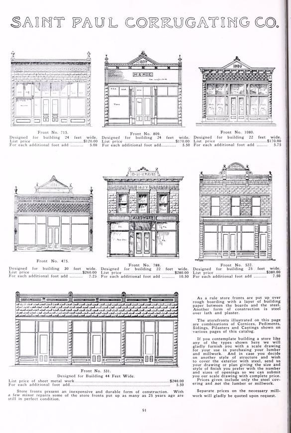 General Catalog G Complete Line Of Sheet Metal Products Saint Paul Corrugating Company Free Download Borrow And Streaming Internet Archive Vintage Storefront Storefront Design Historic Preservation Architecture