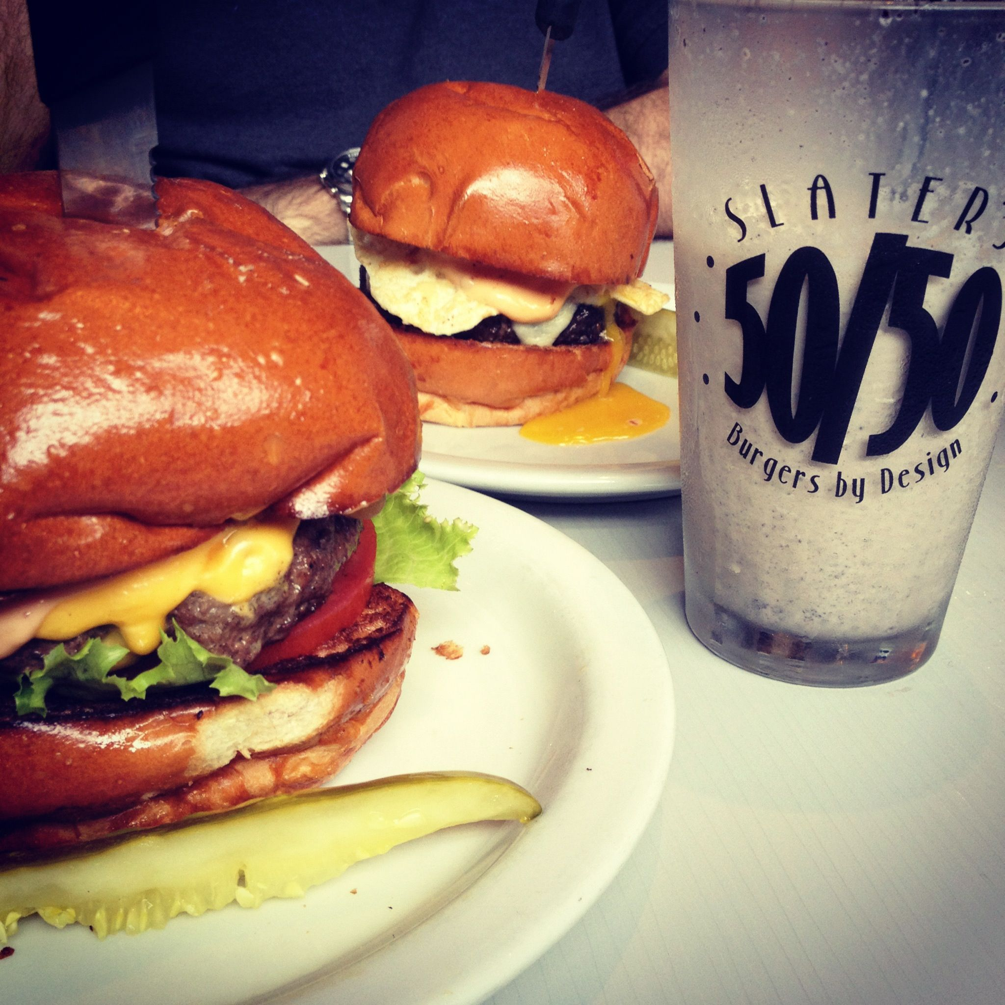 Slater's 50/50. Must eat here. Pasadena location. (With