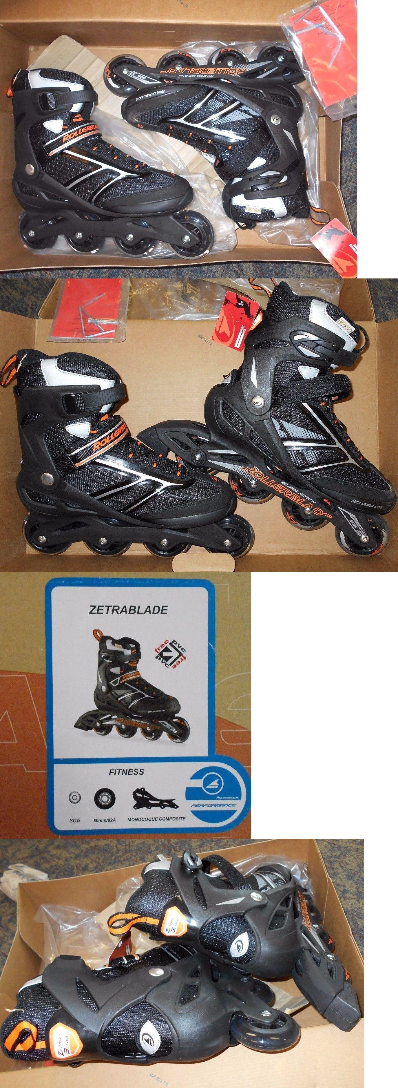 Men 47346 New Rollerblade Zetrablade Inline Roller Skate Black 11 Aggressive Skates Orange Eu 445