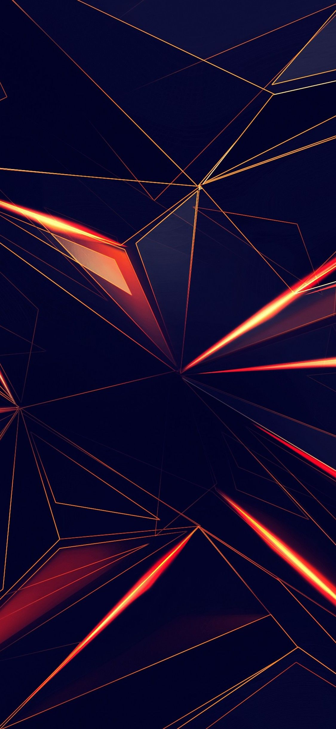 3d Shapes Abstract Lines 4k In 1125x2436 Resolution wall