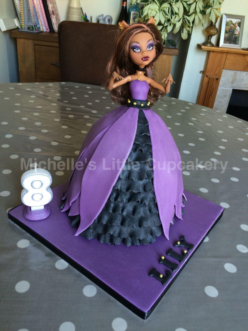 Superb Clawdeen Wolf Monster High Doll Cake Monster High Birthday Cake Personalised Birthday Cards Sponlily Jamesorg