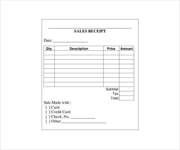 Blank Receipts Templates Receipt Template Invoice Template Brochure Template Psd