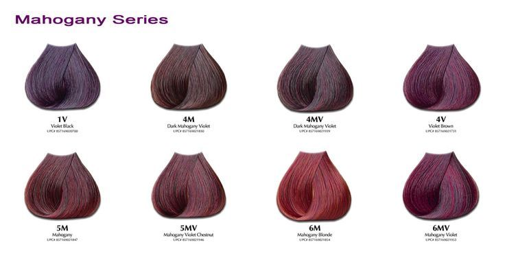 Mahogany hair color chart google search violets in 2018