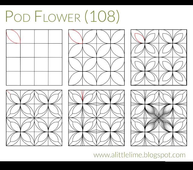 Pod Flower Pattern Step Out Tangle Patterns Easy Zentangle Patterns Pattern Steps
