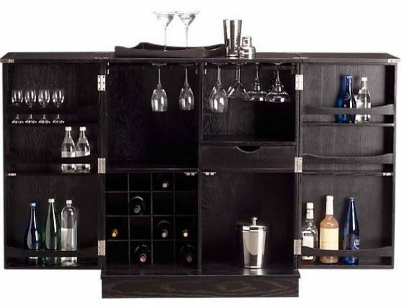 Furniture : Elegant Black Bar Cabinetry Desig Ideas With Exclusive Wooden  Material. Cool Home Bar Cabinet Set And Furniture Design | Snowtango.com ...