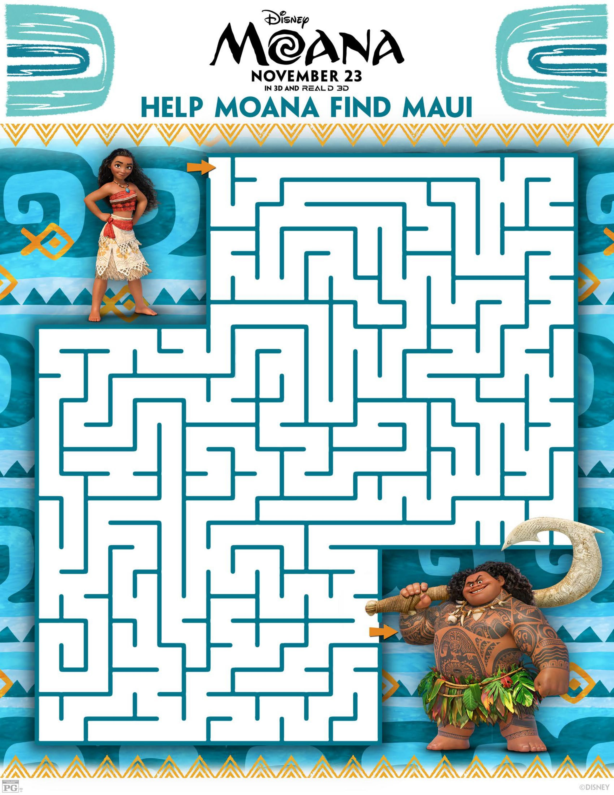 Download FREE Disney\'s Moana movie games and coloring pages like ...