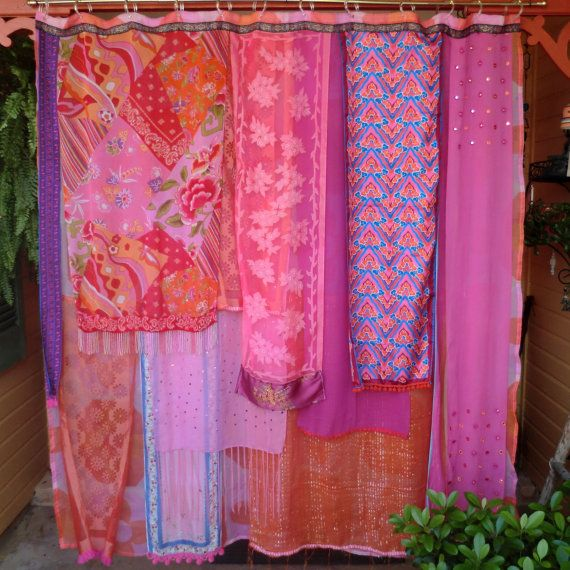 Bright And Vibrant Hot Pink And Orange Gypsy Shower Curtain By Babylon  Sisters Ala ETSY!
