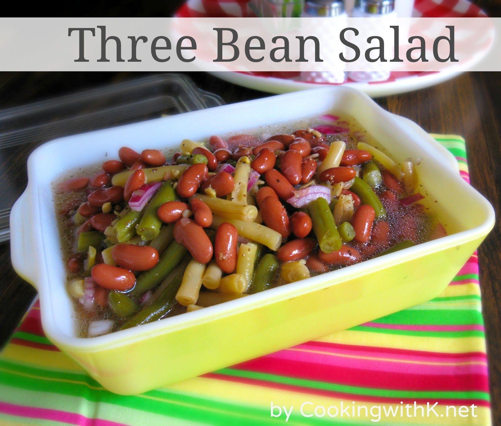 A Throwback Salad Three Bean Salad Recipe Bean Salad Three Bean Salad Three Beans
