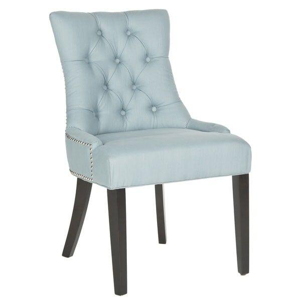 Safavieh Dining Harlow Light Blue Ring Chair (Set Of 2