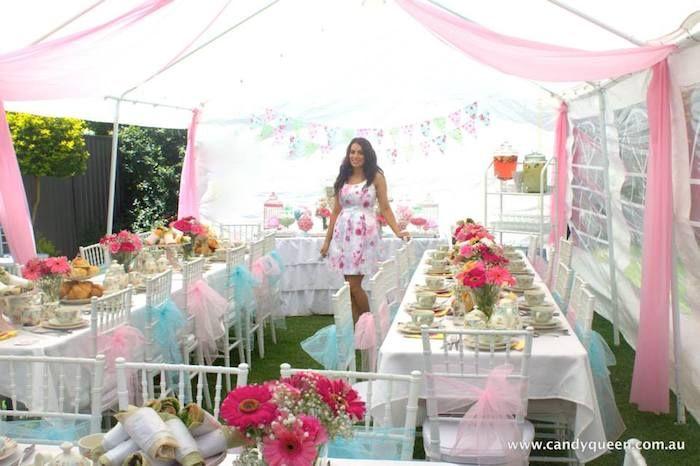 Floral High Tea Bridal Shower With Such Beautiful Ideas Via Karas Party KarasPartyIdeas