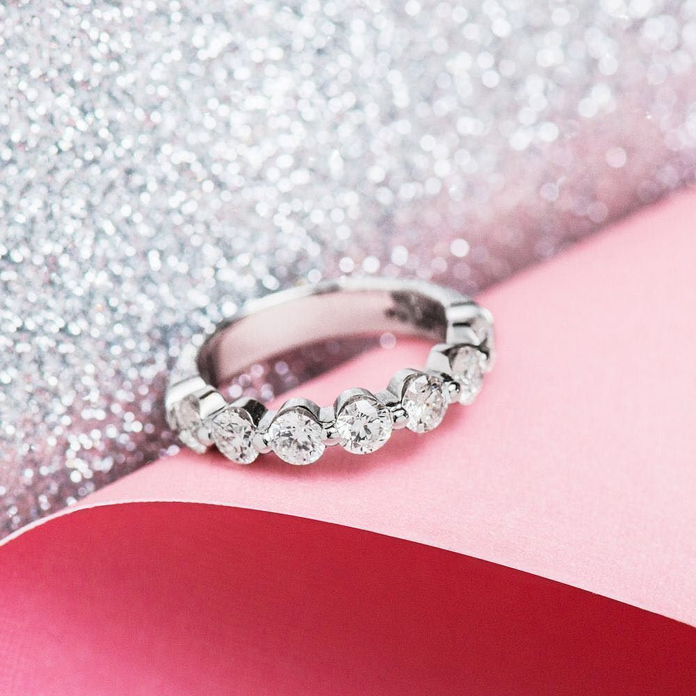 The perfect anniversary ring style: 12052W Click #linkinbio to view ...