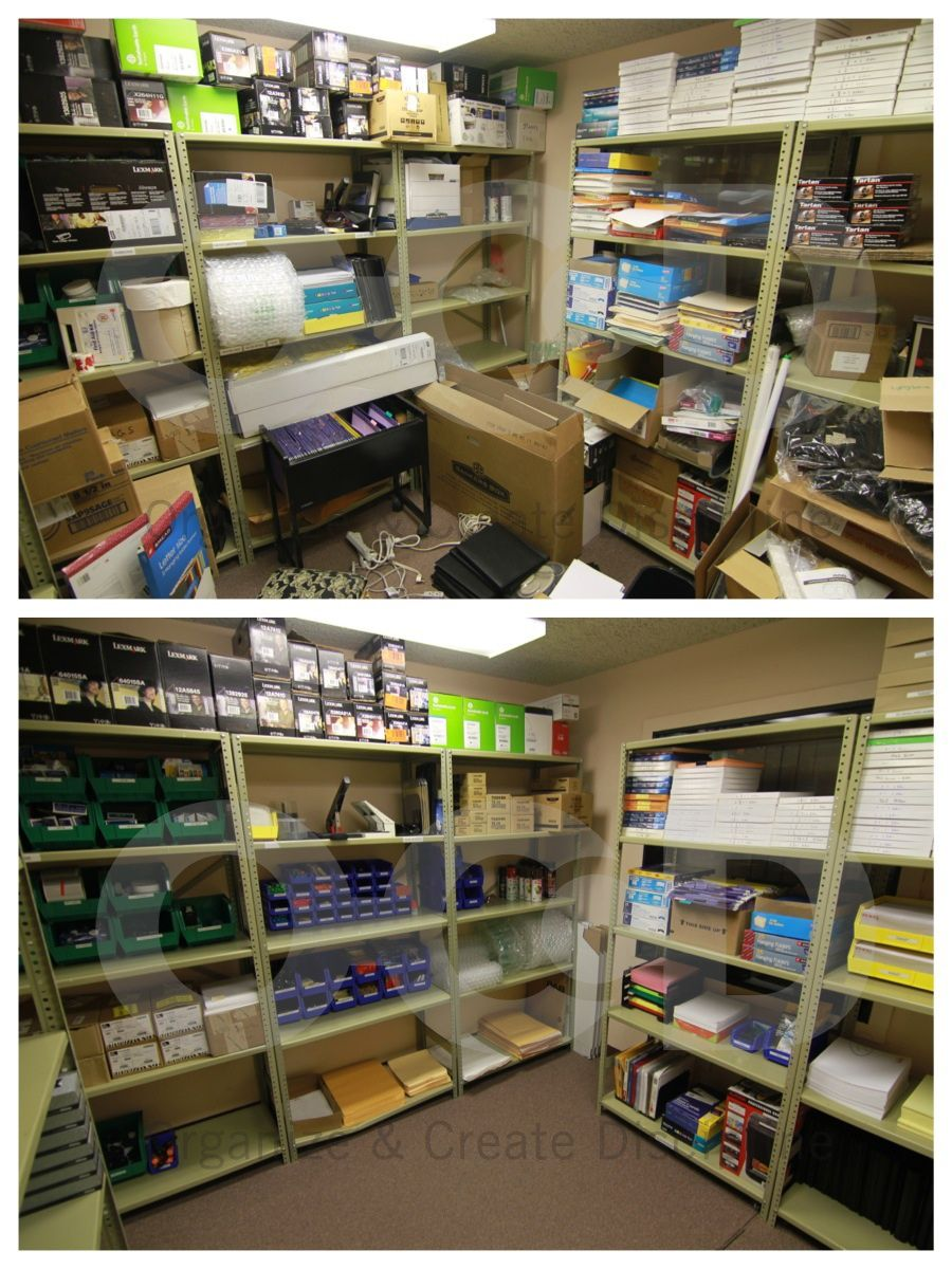 We Ve All Been To The Office Supply Closet That Is Screaming For An Organizationa Office Supplies Closet Office Supply Organization Office Organization At Work