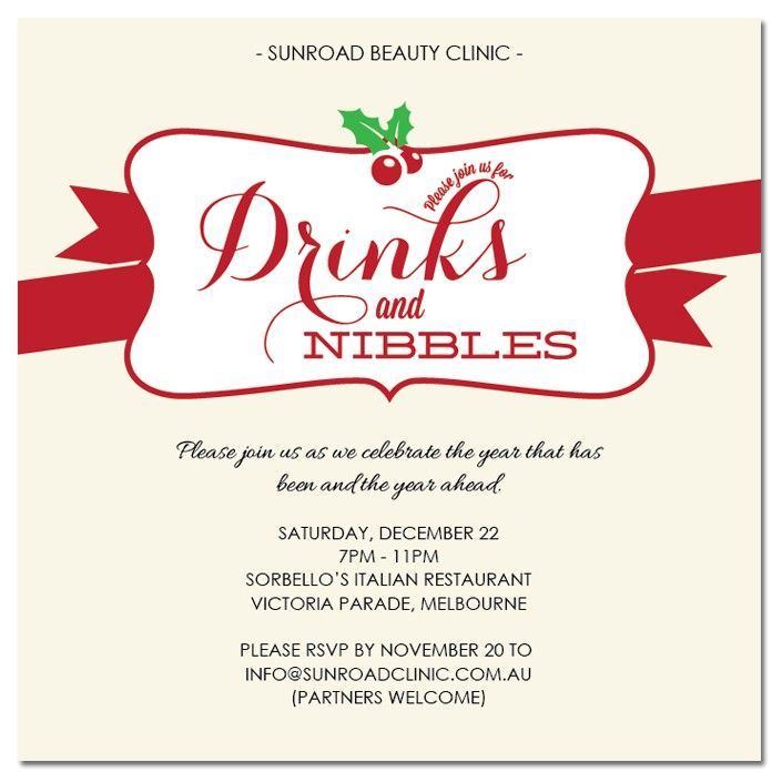 Personalise Your Own Drinks And Nibbles Christmas