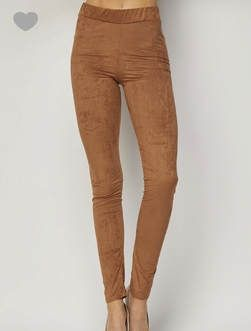 Camel  Suede leggings, super soft and comfy a must have