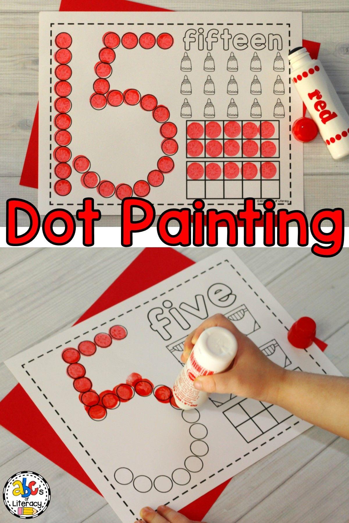 Number Dot Painting Worksheets Bingo Dauber Activity
