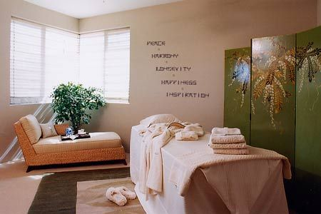 Home Spa Room Ideas The Thin Letters Have Look And Feel Of Paint