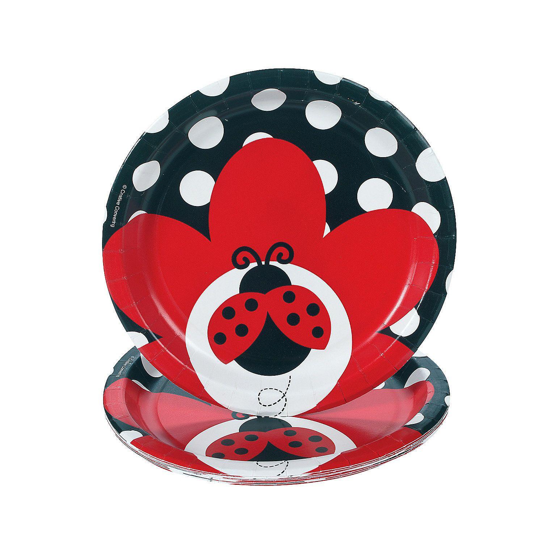 Ladybug Fancy Dessert Plates