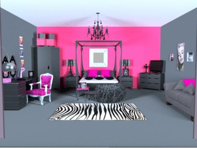 Want to do this in Airi\'s room, only a lighter gray & pink ...
